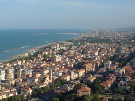 Il panorama del territorio comunale di Grottammare (Ascoli Piceno)