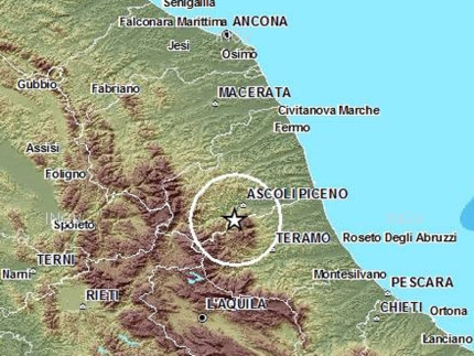 Un terremoto di magnitudo (Ml) 3 è stato registrato dalla Rete Sismica Nazionale dell'Istituto nazionale di geofisica e vulcanologia nei pressi di Ascoli Piceno venerdì 8 maggio