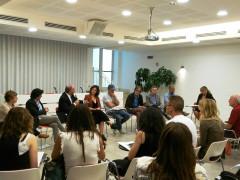 """Conferenza stampa della nuova serie TV """"Scomparsa"""" di Rai Uno a San Benedetto del Tronto"""