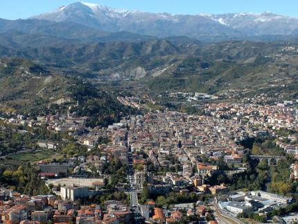 Veduta aerea di Ascoli Piceno
