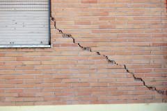 Palazzo lesionato a Tolentino dopo il terremoto del 24 agosto 2016