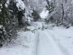 Impercorribile la strada per Monticelli, per la neve caduta abbondante