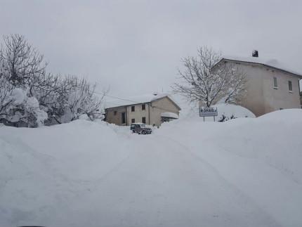 Liberato l'accesso per la frazione di Ropaga, nel comune di Montemonaco, in provincia di Ascoli Piceno