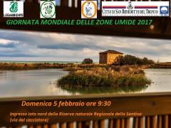 La locandina per la Giornata mondiale delle zone umide e per l'iniziativa di San Benedetto del Tronto