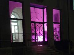 Grottammare: palazzo Ravenna si colora di viola per ricordare la Giornata mondiale dell'Epilessia