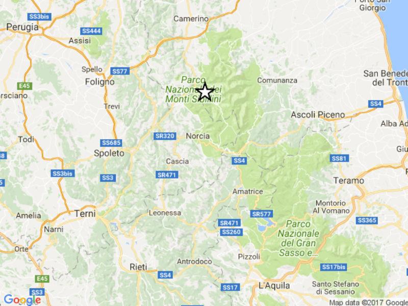 Scossa Castelsantangelo sul Nera 24 giugno