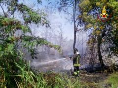 Incendio a Falconara
