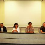 Area di crisi del Piceno: presentati i progetti. Da sx, D'Erasmo, Bravi, Casini, Bora
