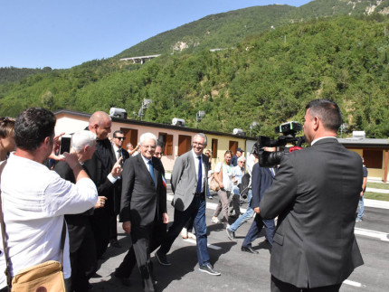 Terremoto, il presidente Mattarella ad Arquata