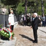 Visita del Presidente Mattarella ad alcune zone colpite dal terremoto del 2016: il raccoglimento per i deceduti
