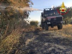 Incendio ad Appignano del Tronto, intervengono i Vigili del fuoco