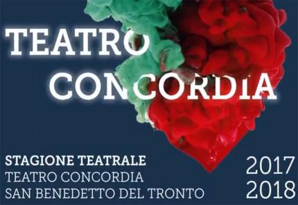 La locandina della stagione teatrale 2017/18 al teatro Concordia di San Benedetto del Tronto