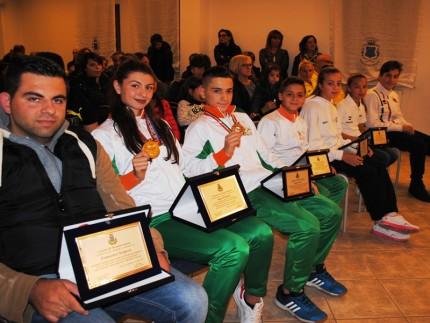 Premiazione atleti a Monteprandone
