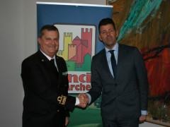 Maurizio Mangialardi, Presidente di Anci Marche, ed il Contrammiraglio Francesco saverio Ferrara