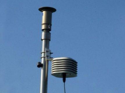 Centralina per la rilevazione della qualità dell'aria