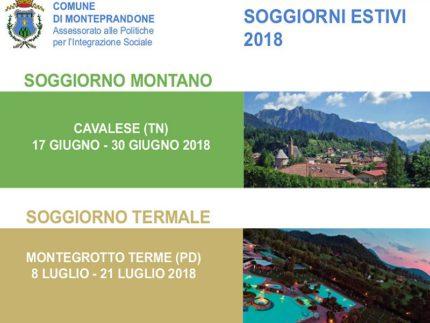 Soggiorni promossi dal Comune di Monteprandone