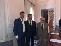 Maurizio Mangialardi, Antonio Decaro e Marcello Bedeschi
