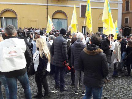 Manifestazione degli edicolanti a Roma