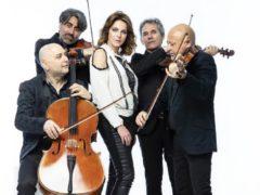 Claudia Gerini e il Solis String Quartet