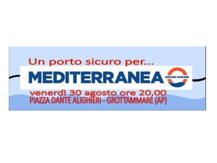 """Evento in favore di """"Mediterranea"""" a Grottammare"""