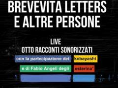 """Locandina dello spettacolo """"Brevevita letters"""""""