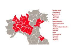 Coronavirus: mappa zona rossa definita l'8 marzo 2020