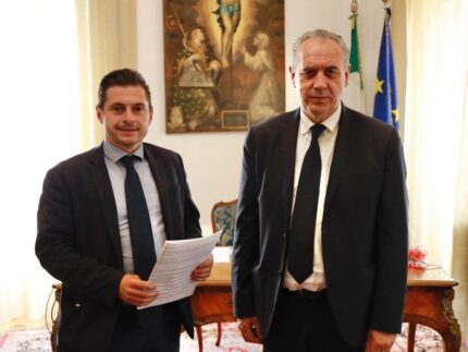 Marco Fioravanti e Giovanni Legnini