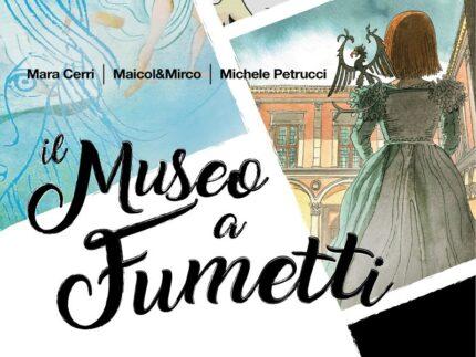 """Locandina della mostra """"Il museo a fumetti"""""""