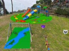 Rendering dei nuovi giochi per bambini a Monteprandone