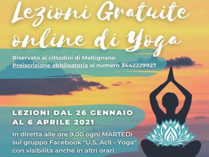 Corso di yoga a Maltignano