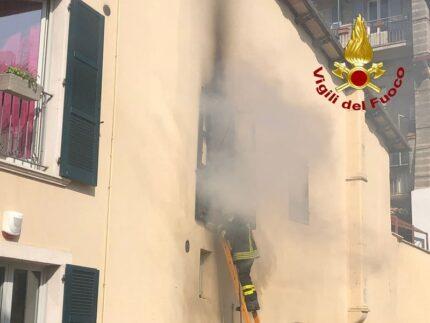 Incendio in un'abitazione di Ascoli