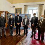 Incontro tra il sindaco di Ascoli Fioravanti e i funzionari di polizia