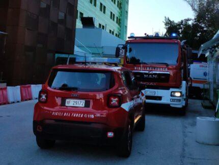 Incendio all'ospedale di San Benedetto