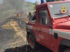 Incendio a Castignano