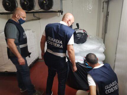 Merluzzo sequestrato dalla Guardia Costiera