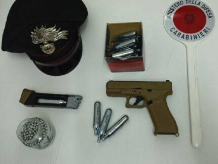 Pistola sequestrata a Spinetoli
